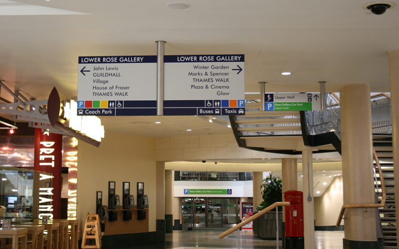 Bluewater wayfinding signs