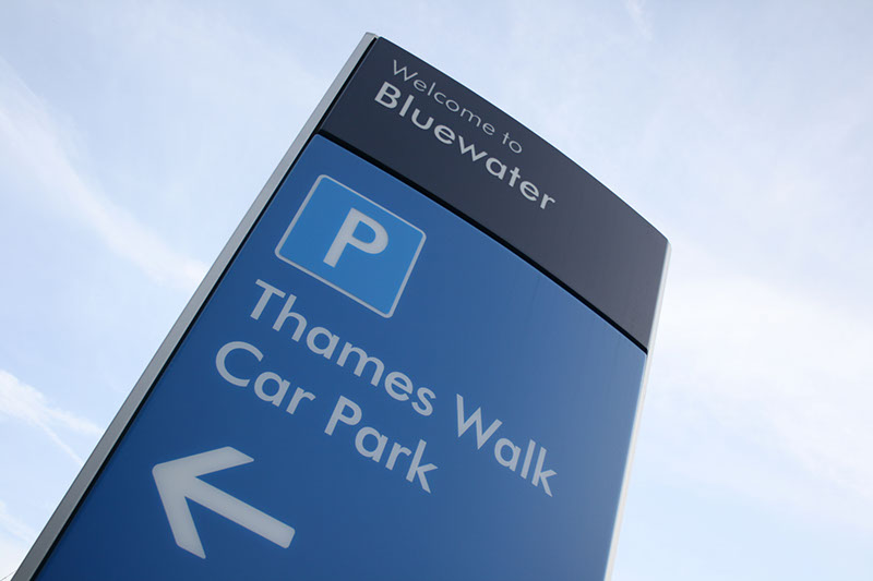 Bluewater entry signs