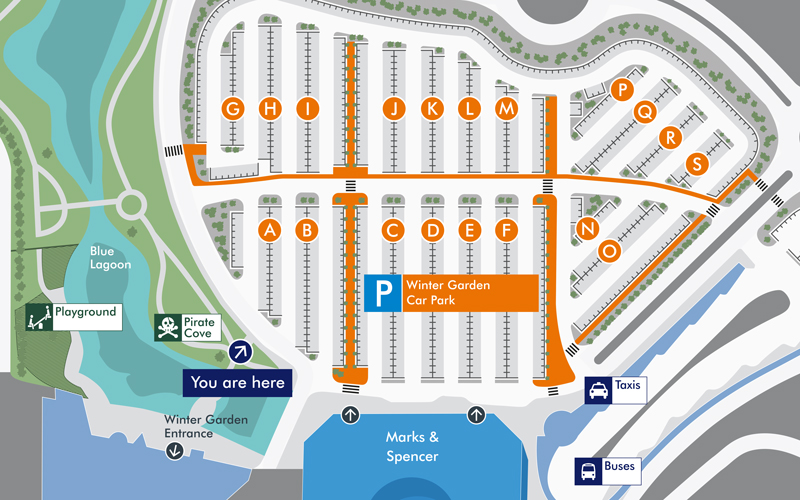 Bluewater wayfinding map