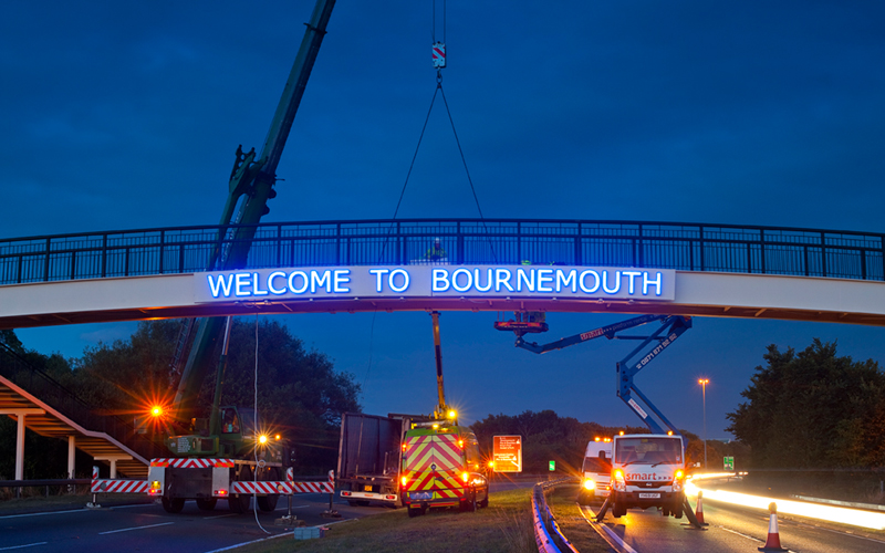 Bournemouth Welcome Sign