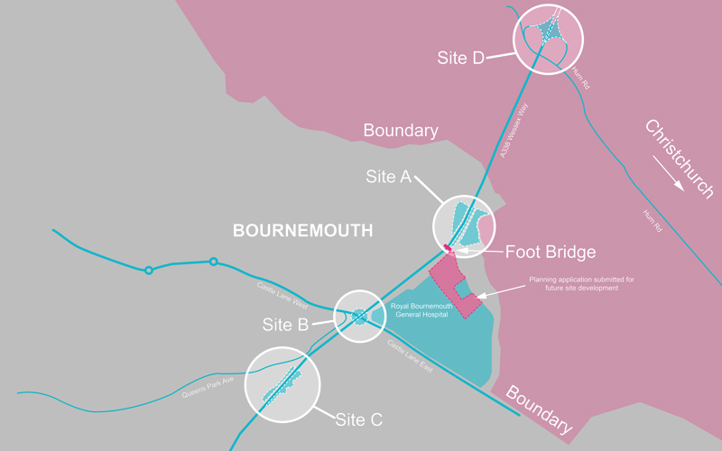Bournemouth Welcome Signlocation map